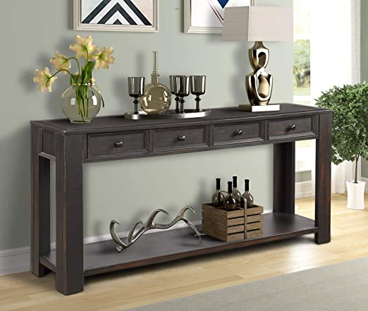 Amazon.com: Console Sofa Table for Living Room, WeYoung Wood .