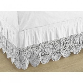 Crocheted Bed Skirts - Ideas on Fot