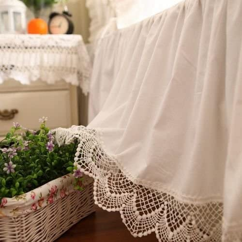 Amazon.com: Swanlake Shabby and Victorian Style White Wide Lace .