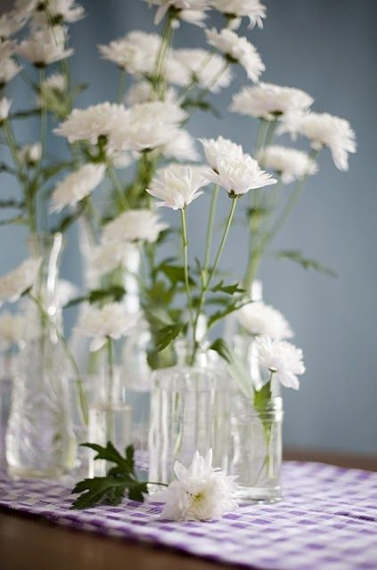 Use old perfume bottles as single-stem vases, cruets for two or .