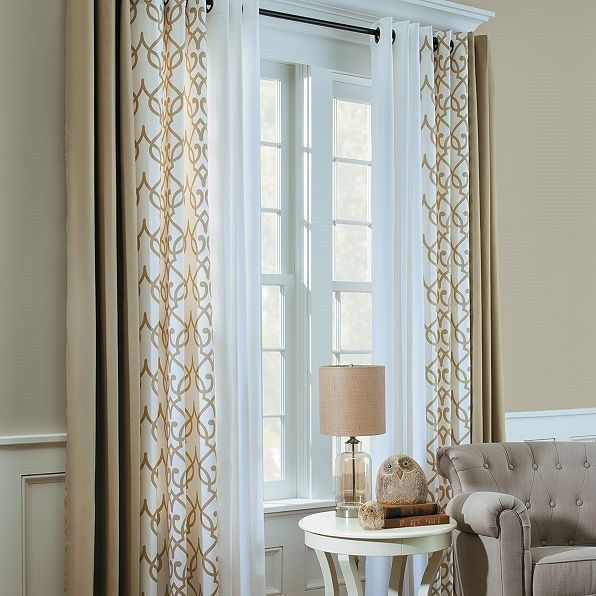 Mixing curtains - interesting | Window curtains living room .