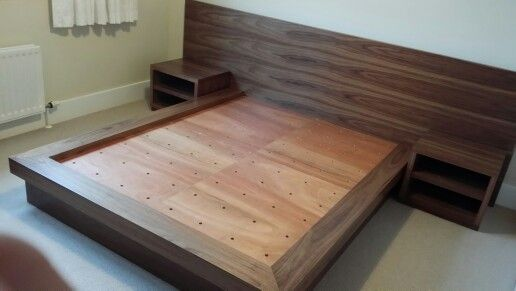 Custom bed (With images) | Wood bed design, Platform bed designs .
