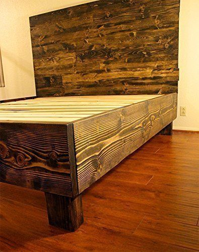 Amazon.com: Farmhouse Bed Frame and Headboard Set / Reclaimed .
