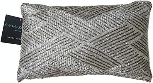 Amazon.com: Cynthia Rowley Beaded Decorative Toss Pillow Cover 100 .