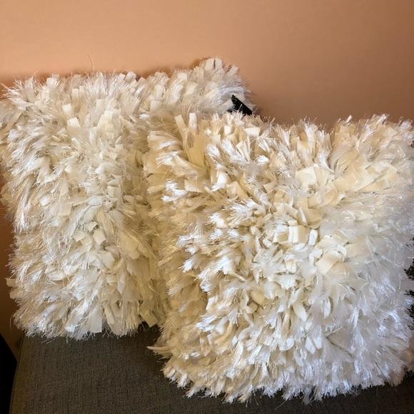 Cynthia Rowley Accents | 2 White Decorative Pillows | Poshma