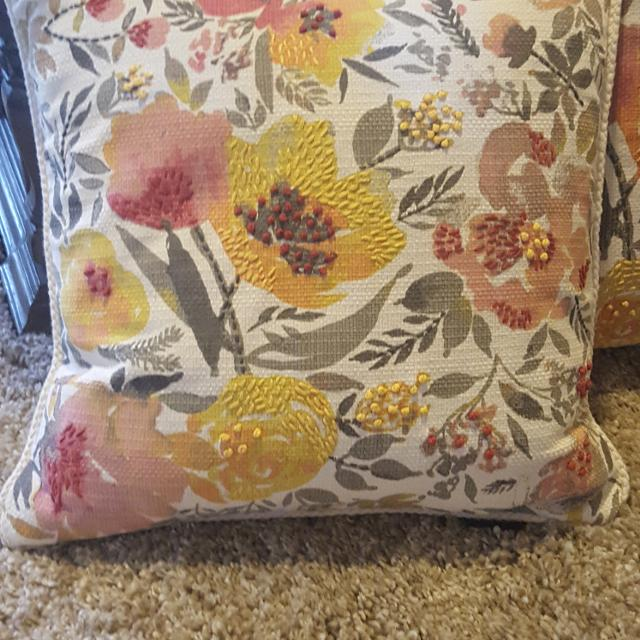 Find more Pair Of Cynthia Rowley Reversible Throw Pillows for sale .