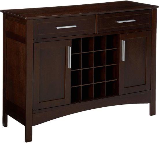 Chinese Furniture Wooden Buffet Modern Kitchen Cabinet Dark Walnut .