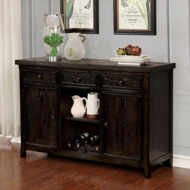Patience Server (Dark Walnut) Furniture Of America | Furniture Ca