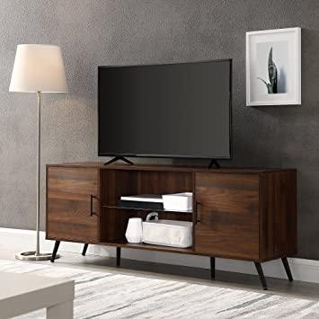 Amazon.com: Walker Edison Mid Century Modern Wood Universal Stand .