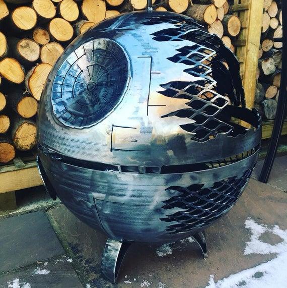 Death Star Wood Burner Death Star Fire Pit Star Wars Fire   Et