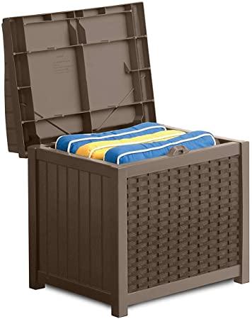 Amazon.com : Suncast 22-Gallon Small Deck Box - Lightweight Resin .