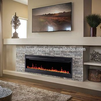 "58"" Built In Decorative Long Electric Fireplace Insert For Hotel ."
