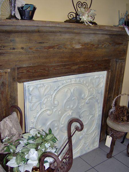 Tin Fireplace Covers | Fireplace cover, Fireplace decor, Dec