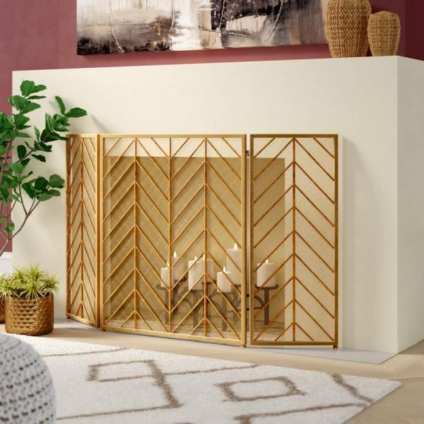 51 Decorative Fireplace Screens To Instantly Update Your Firepla