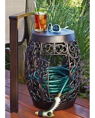 60% Off Sunjoy Decorative Garden Hose Holder - 1104090