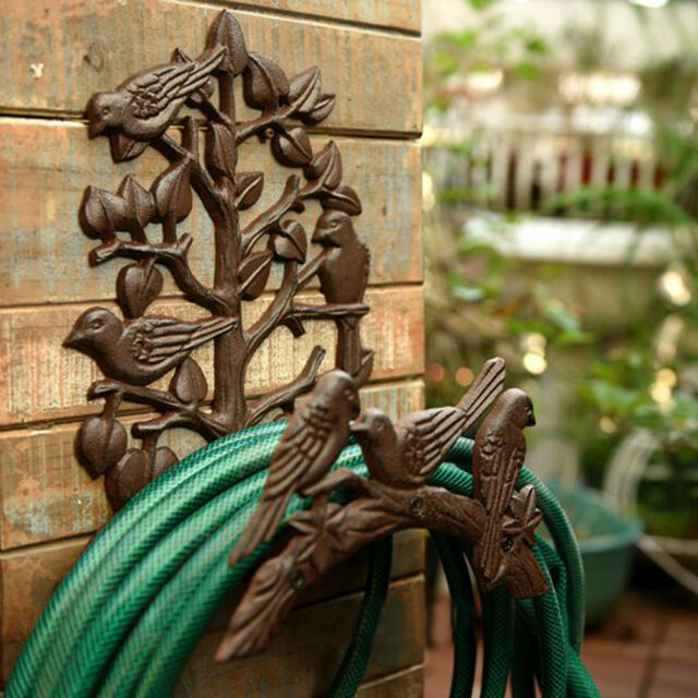 Heavy Duty Cast Iron Hose Holder,Garden & Yard Decorative Wall .
