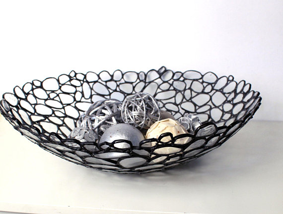 Contemporary Decorative Glass Bowl - Handmade Stained Glass - Home .