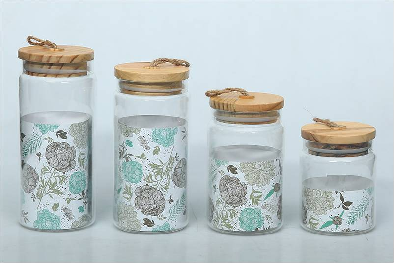 Decorative Glass Containers With Lids