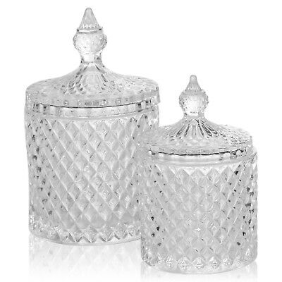 Stylish Glass Alpina Candy Jar Decorative Sweet Container With Lid .