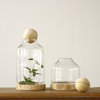 2-inch Unfinished Round Wood Ball Lids for glass vase,decorative .