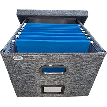 Amazon.com : Collapsible File Box Storage Organizer with lid .