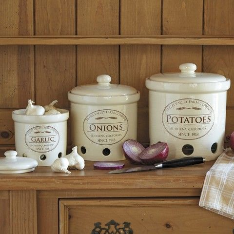 CHEFS Fresh Valley Canister - Set of 3 | Ceramic kitchen canister .