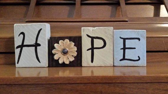 HOPE Decorative Block Letters Decorative Letter Blocks Wood | Etsy .