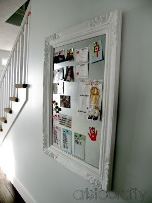 Cute Magnet board made from an old frame | Easy diy projects .