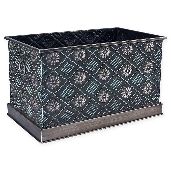 Household Essentials® Decorative Metal Storage Bin | Bed Bath & Beyo