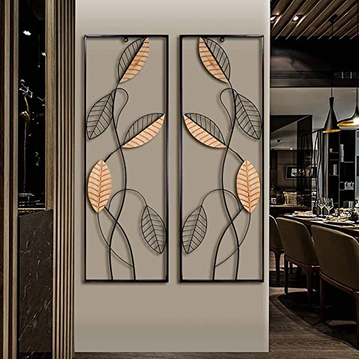 Amazon.com: Metal Wood Wall Panel Décor, Black Metal Wall Art .