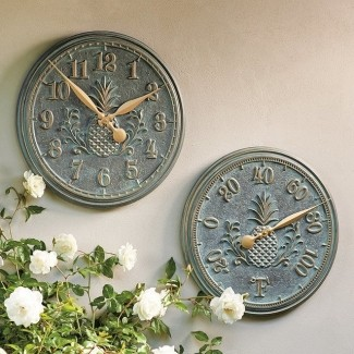 Outdoor Clock And Thermometer Set - Ideas on Fot