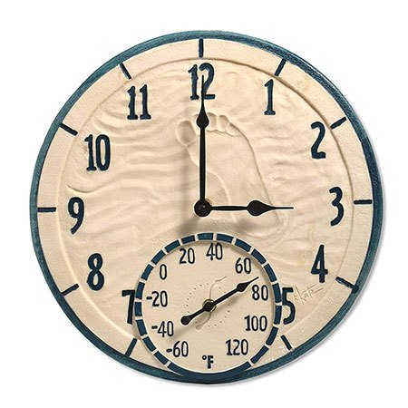 Decorative Outdoor Clock And Thermometer   Set