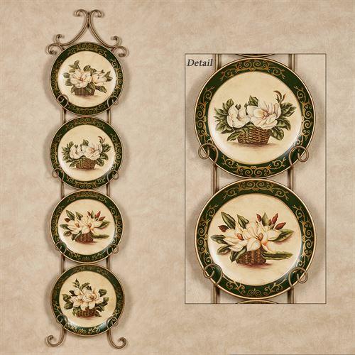 Magnolia Floral Decorative Plate S