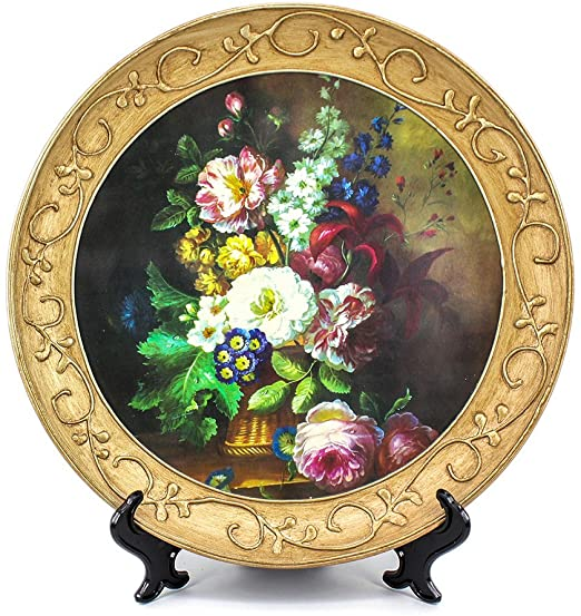 Amazon.com: ZHAMS 10'' Ceramic Decorative Plate, Art Decoration (B .