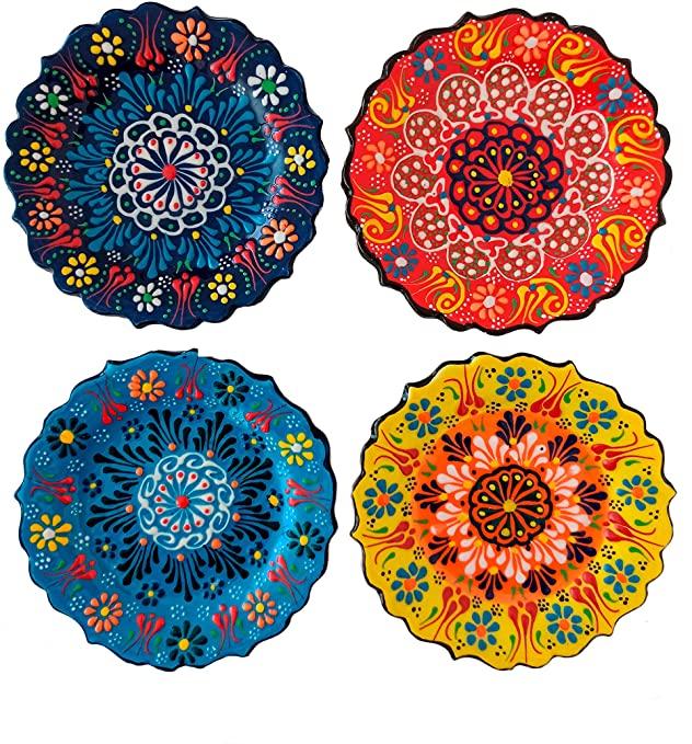 Amazon.com: Ayennur Turkish Decorative Plates Set of 4-5.11 .