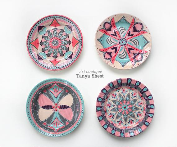 Gift set of decorative plates Modern hand | Et
