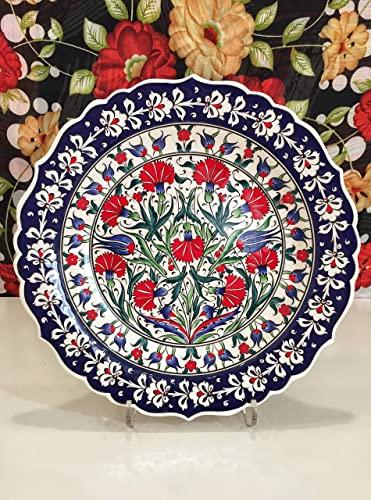 Amazon.com: IstanbulArtWorkshop 12'' Handmade Ceramic Wall Plate .
