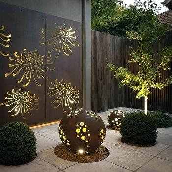 Outdoor Privacy Screens/decorative Corten Steel Metal Screen/laser .