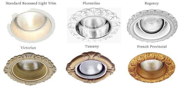 "6"", 6-3/4"" Decorative Recessed Light Trims | Beaux-Arts Classic ."