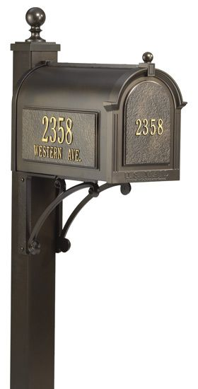 Whitehall Custom Mailbox and Post Package | Residential mailboxes .