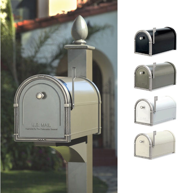 Coronado Mailbox with Decorative Post by Architectural Mailbox