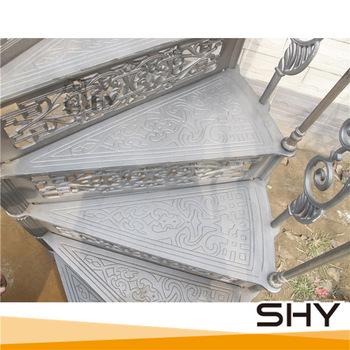 Decorative Morden Cast Iron Spiral Stair Treads - Buy Spiral Stair .