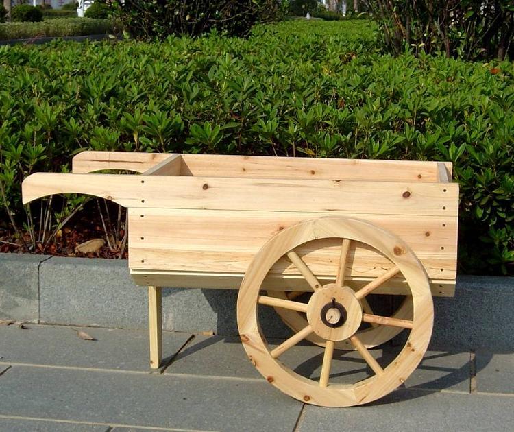Wooden Wheelbarrow Planter | Decorative Display Ca