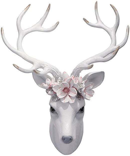Amazon.com: HongLianRiven Deer Head Wall Decoration Background .