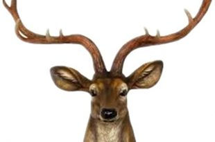 Amazon.com: YJ Home Deer Head Wall Decor - Faux Stag Mounted .