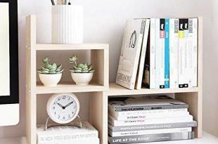 Wood Desktop Adjustable Organizer Storage Rack | Office Desk .