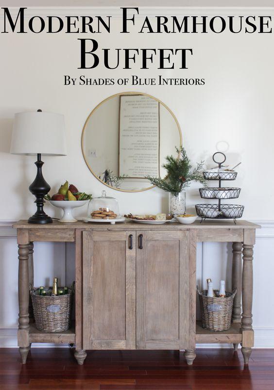 Modern Farmhouse Buffet - Shades of Blue Interiors | Modern .