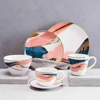 Modern Abstract Dinnerware Set - Products, bookmarks, design .