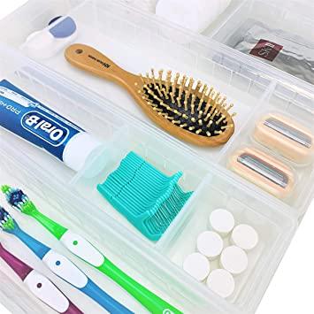 Amazon.com: WOWGANISER Drawer Organizer for Makeup Bathroom .
