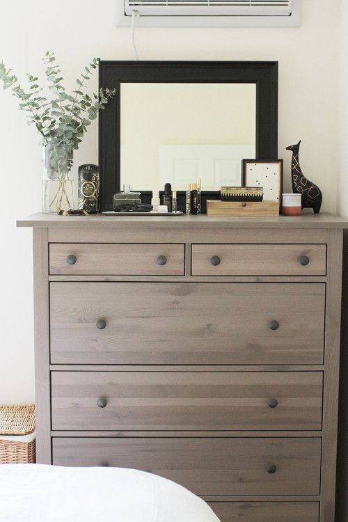 Decorating as a Couple in NYC | Design*Sponge | Dresser top decor .